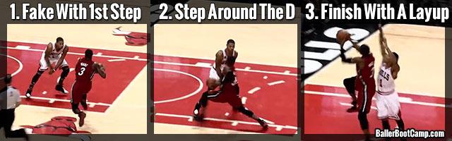 basketball finishing moves eurostep